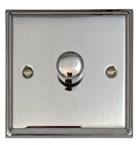 G&H DC11 Deco Plate Polished Chrome 1 Gang 1 or 2 Way 40-400W Dimmer Switch